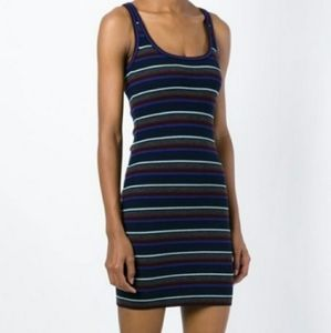 T by Alexander Wang striped knitted tank dress